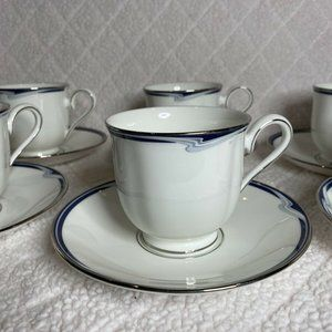 6 SETS LENOX JOANNA DEBUT COLLECTION CUPS AND SAUC